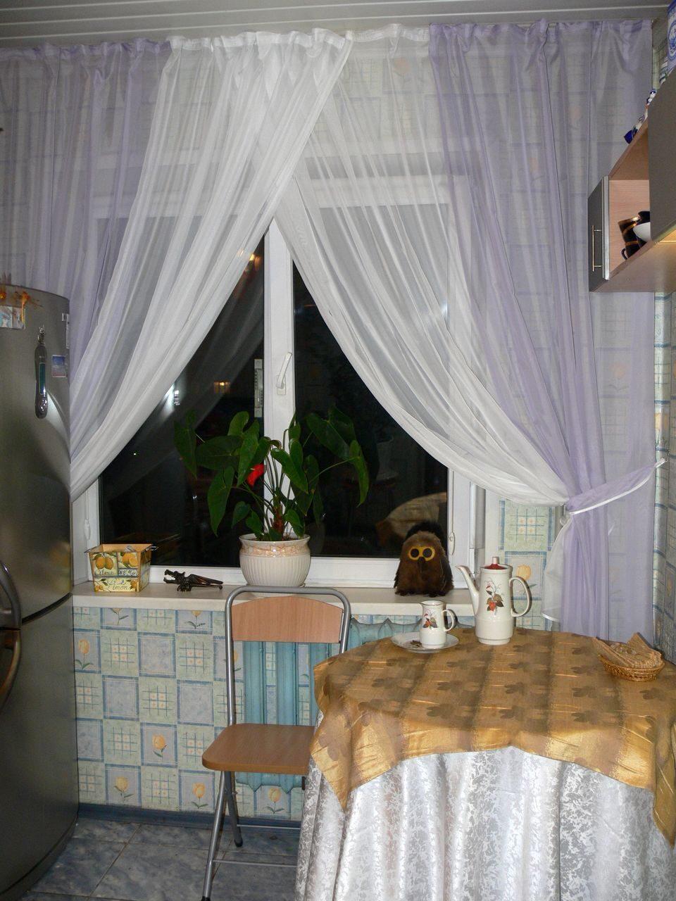 Шторы для кухни вуаль