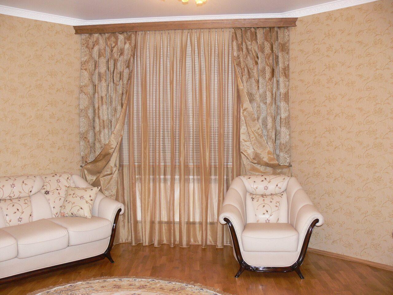 Пошив штор для гостиной - современные шторы для зала.