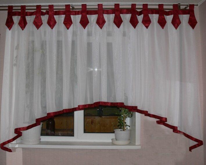 шторы на петлях фото на кухню